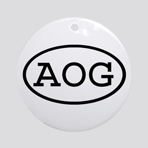 AOG Oval Ornament (Round)