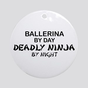 Ballerinia Deadly Ninja Ornament (Round)