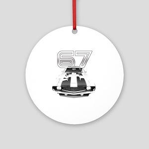 Camaro Black 1967 Round Ornament