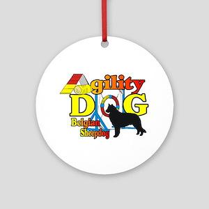 Belgian Sheepdog Agility Round Ornament