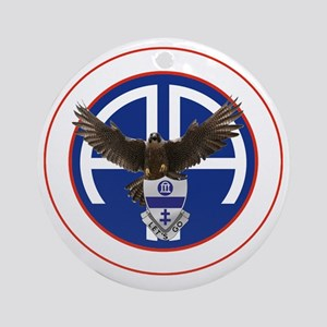 Falcon v1 - 2nd-325th - white Round Ornament