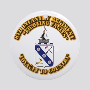 COA - 8th Infantry Regiment Round Ornament