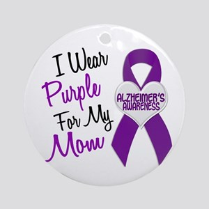 I Wear Purple For My Mom 18 (AD) Ornament (Round)