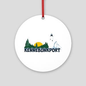 Kennebunkport ME - Beach Design. Ornament (Round)