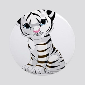 Baby White Tiger Ornament (Round)