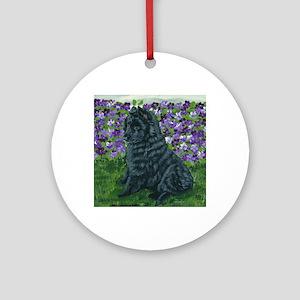 bel shep purple flower baby Round Ornament
