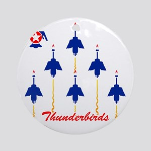 Thunderbirds Round Ornament
