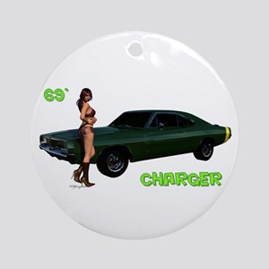 69 Charger Pinup Ornament (round)