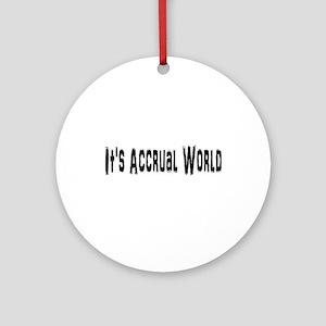 Accural World Ornament (Round)