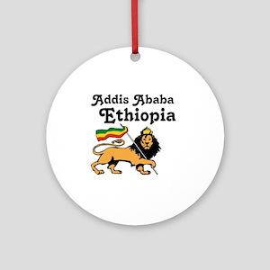 Addis Ababa, Ethiopia Round Ornament