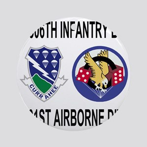2-Army-506th-Infantry-2-506th-101st Round Ornament