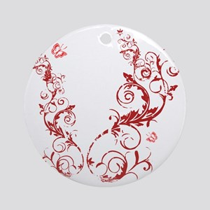 bethechange_red_dark Round Ornament