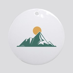 Sunrise Mountain Ornament (Round)