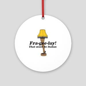 fragelee-Leg_Lamp Round Ornament