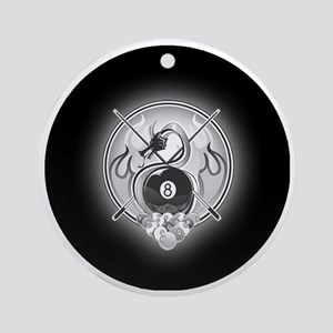 8-ball dragon Large round button Round Ornament