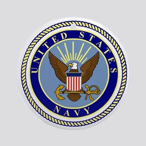 Navy-Logo-9 Round Ornament