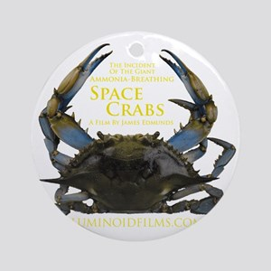 ApparelFrontSpaceCrabsDarkApparel Round Ornament