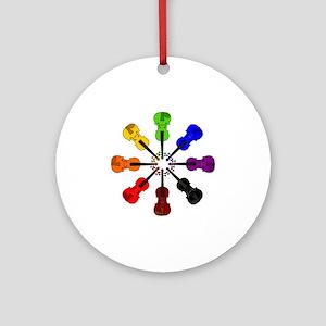 circle_of_violins Round Ornament