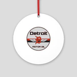 Detroit Motor Oil copy Round Ornament
