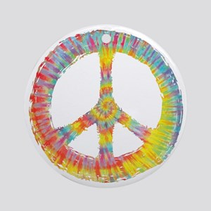 tiedye-peace-713-DKT Round Ornament