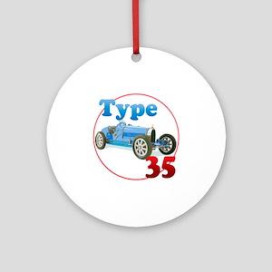 Bugatti35-C8trans Round Ornament