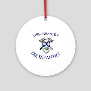 1st Bn 23rd Infantry cap4 Round Ornament