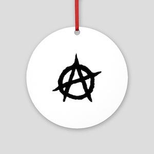 Anarchy Round Ornament