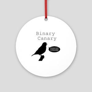 binarycanary Round Ornament