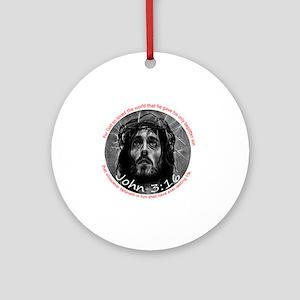 John 3:16 Crown of Thorns 6x6 Round Ornament