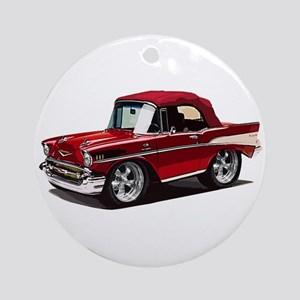 BabyAmericanMuscleCar_57BelR_Red Ornament (Round)