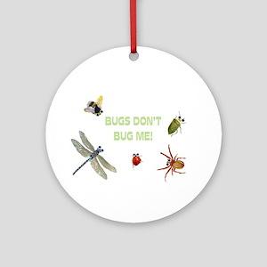 Cute bugs Ornament (Round)