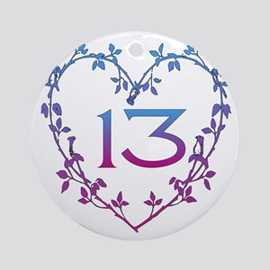 Thirteenth Birthday Ornament (Round)