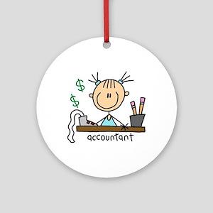 Professions Accountant Ornament (Round)