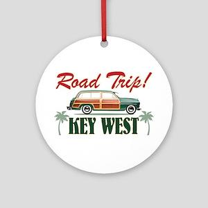KW_RoadTrip Round Ornament