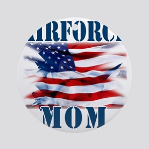 Airforce Mom Round Ornament