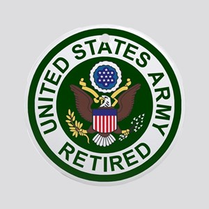 3-Army-Retired-For-Stripes-2 Round Ornament