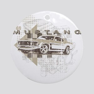 mustang1 Round Ornament