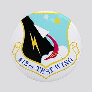 USAF Air Force 412th Test Wing Shie Round Ornament