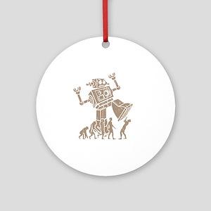 2-robotV2 Round Ornament