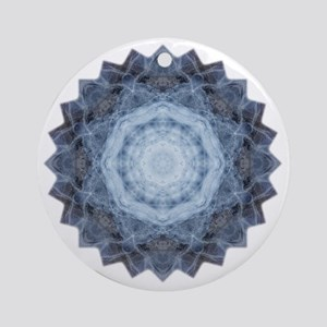 Blue Star Kachina Yoga Mandala Shir Round Ornament