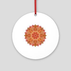 Earth Mandala Yoga Shirt Round Ornament
