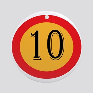 Number 10 Round Ornament