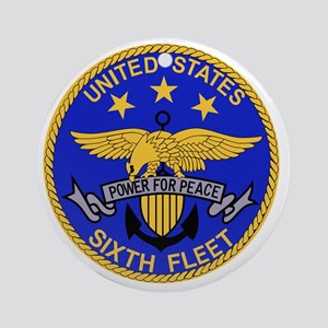 SIXTH FLEET US Navy Military PATCH Round Ornament