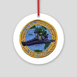 USS BRISTER Ornament (Round)