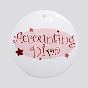 """""""Accounting Diva"""" [red] Ornament (Round)"""