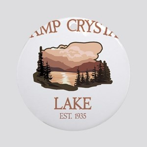 Camp Crystal Lake Counselor Round Ornament