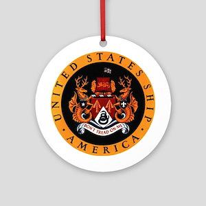 USS America Ornament (Round)