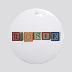 Rosie Alphabet Blocks Ornament (Round)