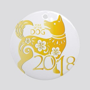 Chinese New Year 2018 - Year Of The Round Ornament