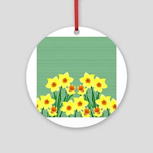 Daffodils Ornament (round)
